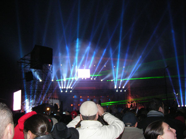 Jocul laserelor in Piata Universitatii
