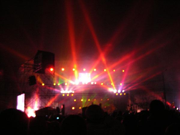 Baie de lumina - revelion - piata universitatii