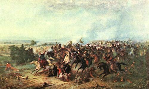 theodor aman - alungarea turcilor la calugareni