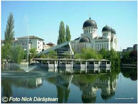 arad - catedrala si lacul