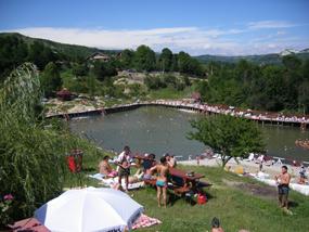 Baia baciului - Slanic Prahova - strand amenajat