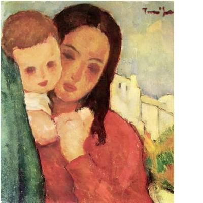 mama si copilul - nicolae tonitza
