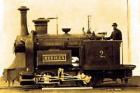 Prima locomotiva cu aburi