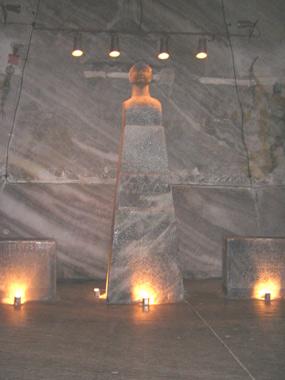 Traian -statuie de sare
