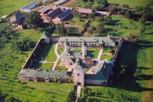 Manastirea Risca - vedere aero