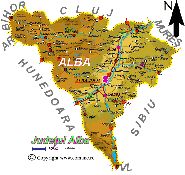 Harta judetului Alba