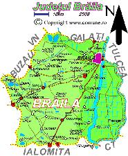 Harta judetului Braila