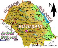 Harta judetului Botosani
