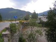 Pod peste Bistrita in comuna Crucea