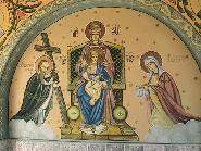 Fresca la intrarea bisericii Sf.Dumitru