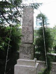 Checea-TM, Monumentul eroilor