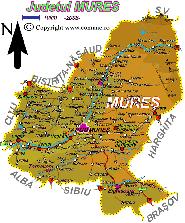 Harta judetului Mures