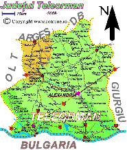 Harta judetului Teleorman