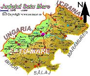 Harta judetului Satu-Mare