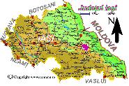 Harta judetului Iasi