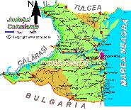 Harta judetului Constanta