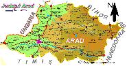 Harta judetului Arad