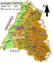 Harta judetului Bihor