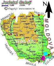 Harta judetului Galati